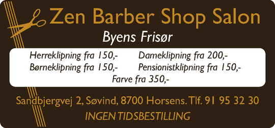 Zen Barber Shop, Søvind
